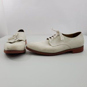 Cole Haan Summer Buck II 13 M White Suede Leather